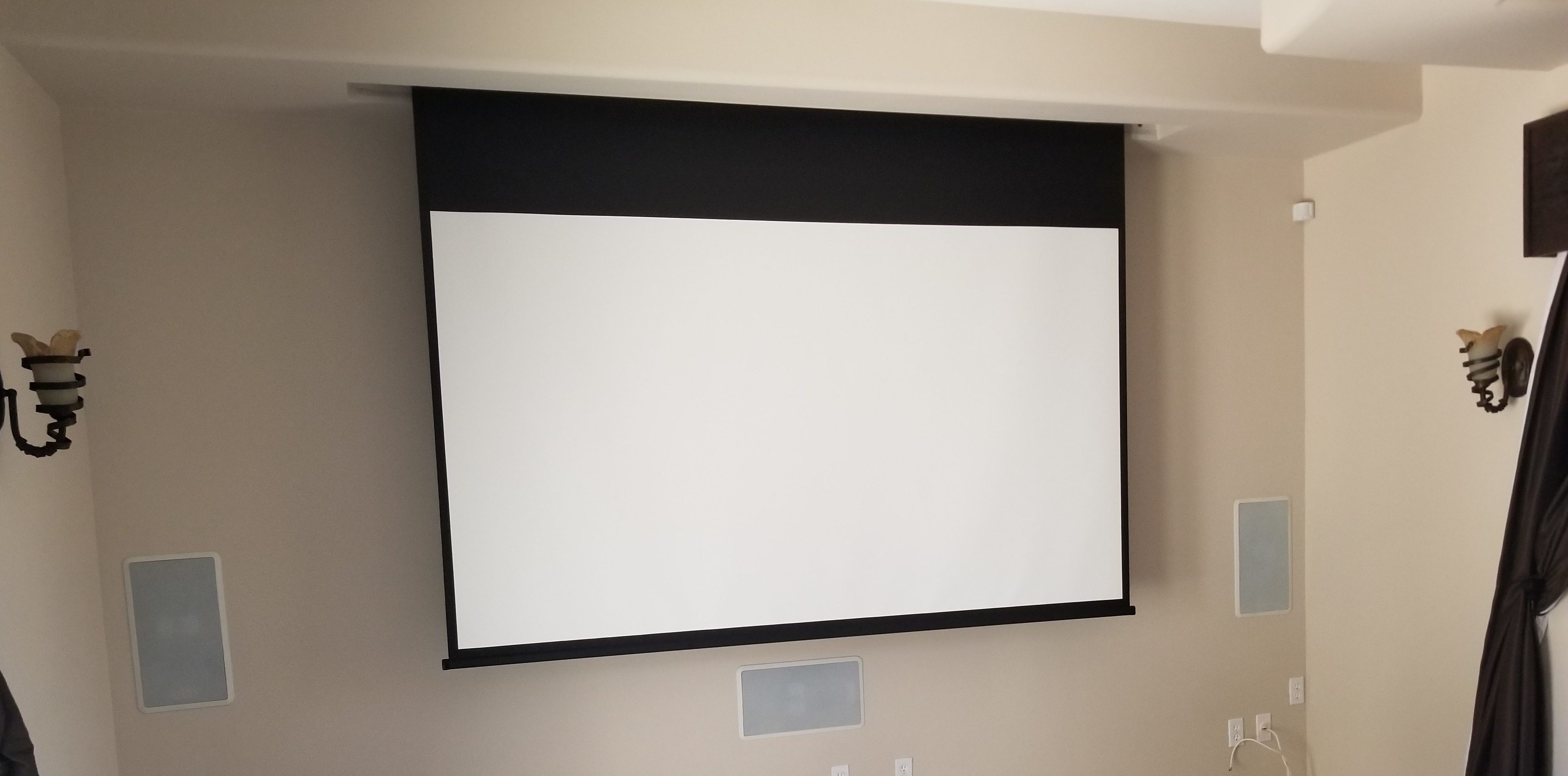 PROJECTOR AND PROJECTOR SCREEN INSTALLATION