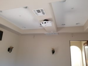 projector installation and projector screen image