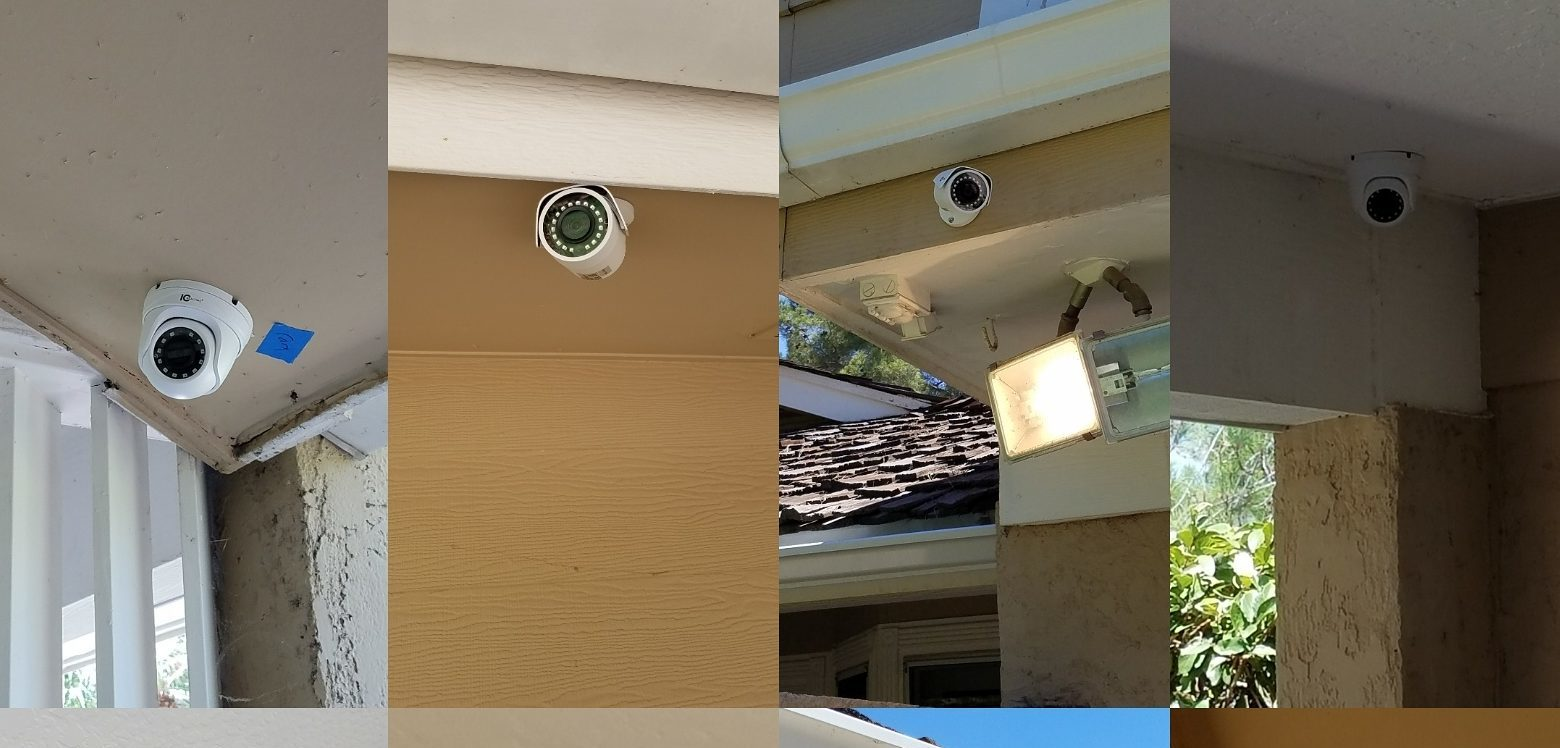 SECURITY CAMERAS AND SECURITY  CAMERA INSTALLATIONS